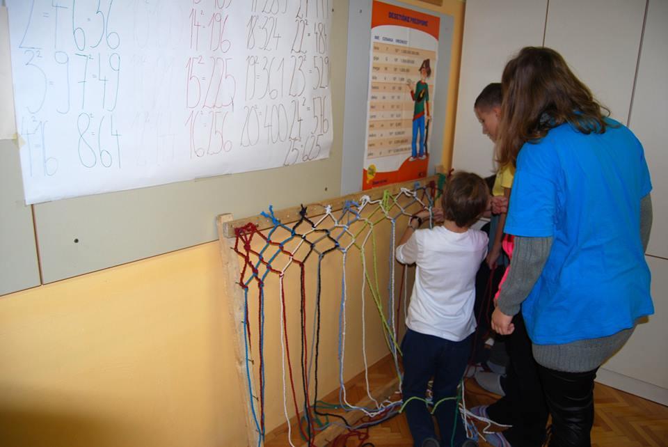 Pletenje mrež iz majic (foto by OŠ Savsko naselje)