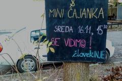 Oglasna tabla na Šerkcu - prostor kjer človekINJE obveščamo lokalne prebivalce o aktivnostih