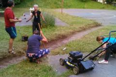 Poleti smo pokosili Šerkca in očistili potko